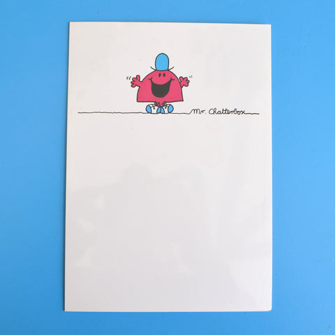 Vintage 1980s Greeting Card - Mr Men - Mr Chatterbox / Mr Mischief