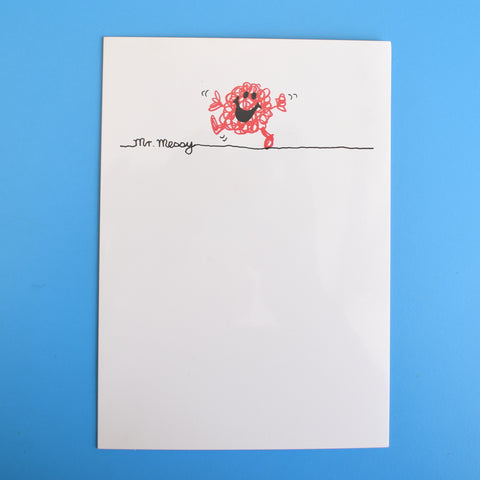 Vintage 1980s Greeting Card - Mr Men - Mr Messy / Mr Impossible