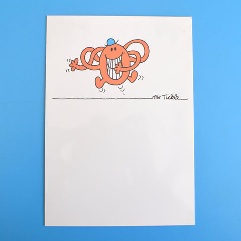 Vintage 1980s Greeting Card - Mr Men - Mr Tickle / Mr Quiet