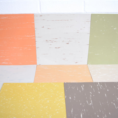 Vintage 1980s Vinyl Marley Floor Tiles - Various Colours