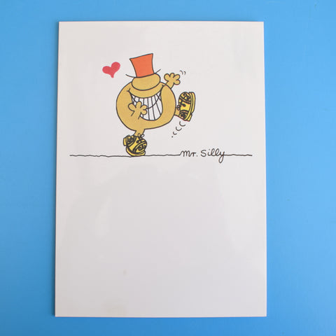 Vintage 1980s Greeting Card - Mr Men - Mr Mean / Mr Silly
