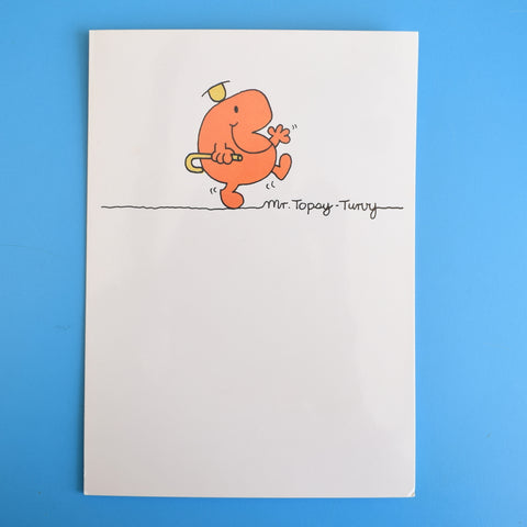 Vintage 1980s Greeting Card - Mr Men - Mr Bounce / Mr Topsy Turvy