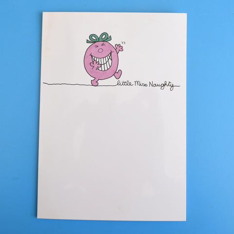 Vintage 1980s Greeting Card - Little Miss Naughty / Little Miss Shy