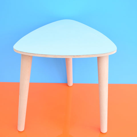 Vintage Style Formica Side Table - Beech Wood Legs and Formica Top