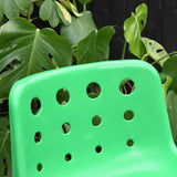 Vintage 1970s Plastic / Metal Stacking 'Polo' Chairs - Hille - Robin Day - Green