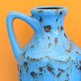 Vintage 1960s West German - Fat Lava Jug / Vase - Blue / Purple