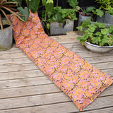 Vintage 1970s Padded Long Cushion / Mattress - Psychedelic Print