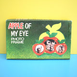 Vintage 1970s Small Unused Apple Shaped Photo Frame - Red (Boxed)