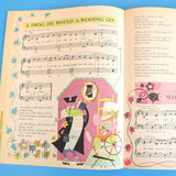 Vintage 1960s Rare Sing-A-Song-Book - Mary Blair