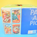 Vintage 1970s Pac A Pic Picnic Set - Orange & White - Boxed