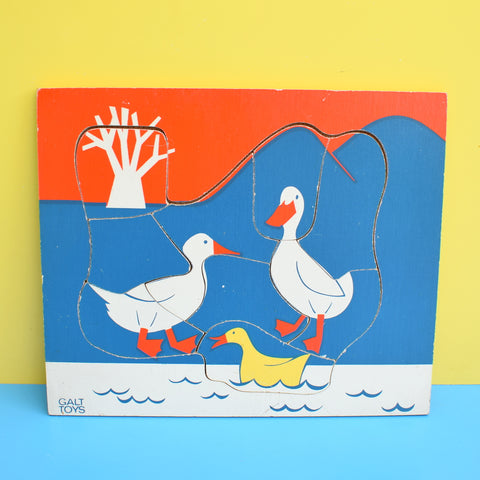 Vintage 1960s Wooden Jigsaw Puzzle - by Galt - Ducks