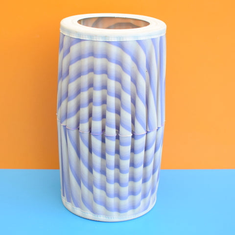 Vintage 1960s Small Stretched Vinyl Lampshade - Purple Swirl