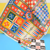 Vintage 1970s Clothkits Games Table Cloth - Multiple Games & Vinyl Mat With Booklet & Pieces