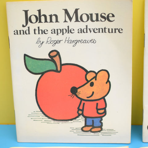Vintage 1970s John Mouse Books - Roger Hargreaves - Mr Men Author - Full Set