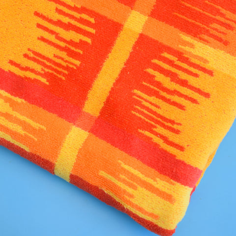 Vintage 1980s Beach Towel - Red, Orange & Yellow