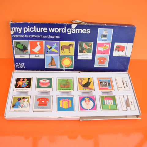 Vintage 1960s My Picture Word Games - by Galt (Boxed)