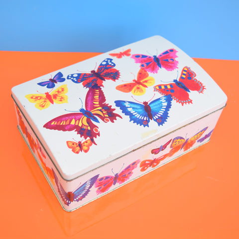Vintage 1960s Kitsch Metal Tin - Cadbury - Butterflies
