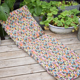 Vintage 1970s Padded Long Cushion / Mattress - Bassetts Liquorice All Sorts Pattern