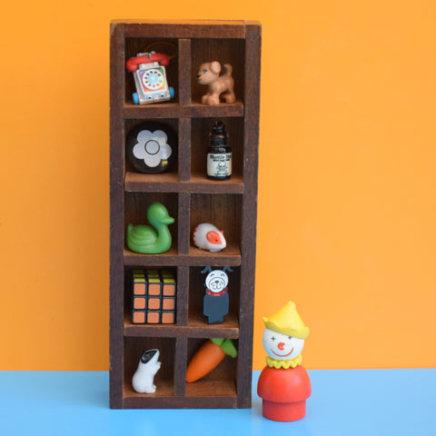 Vintage 1960s Mini Wooden Display Shelf
