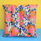 Vintage 1960s Vinyl Inflatable Pillow - Ideal Beach Use - Abstract flower Design