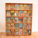 Vintage 1950s Large Genuine Post Office Display Rack - Wood & Glass