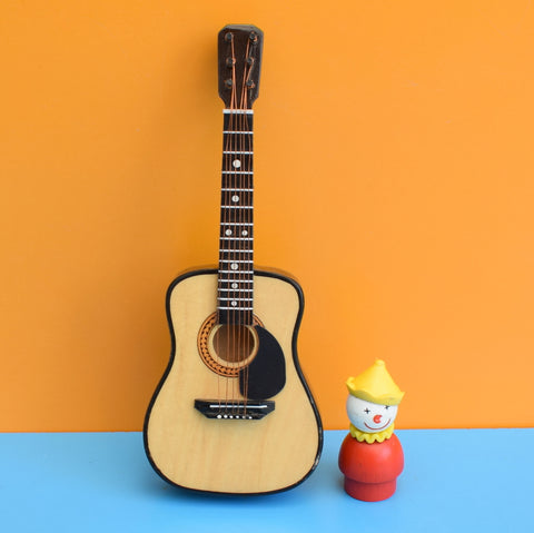 Vintage Miniature Working Wooden Acoustic Guitar