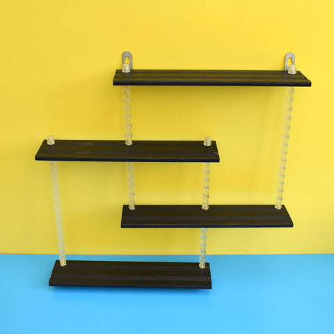 Vintage 1950s Gaybox Shelving Units - Black Shelves / Clear Uprights
