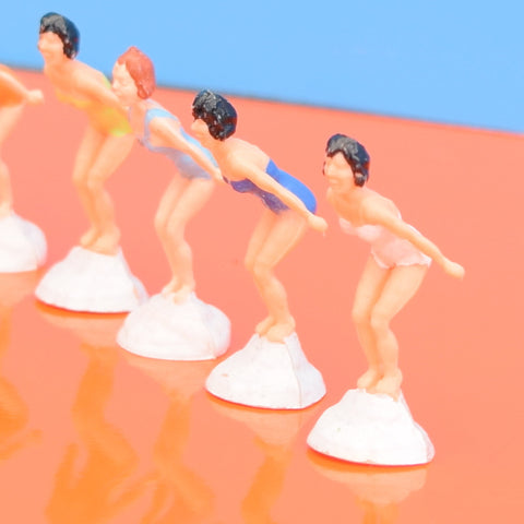 Vintage 1950s Diving Ladies Cake Toppers x6