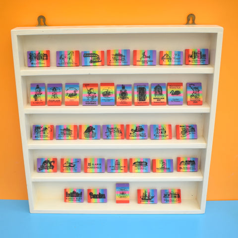 Vintage 1990s Rainbow Rubber Collection - Tourist Attractions