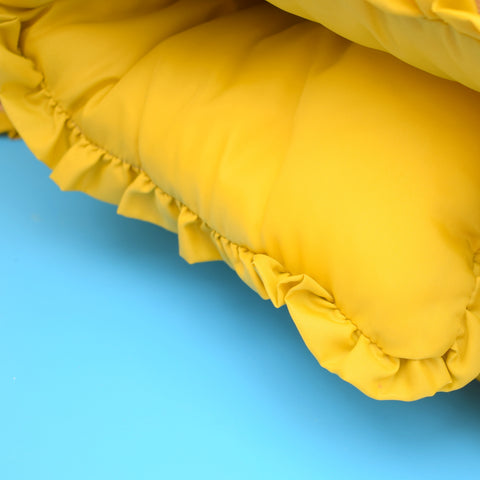Vintage 1960s Eiderdown / Throw - English Mustard Yellow
