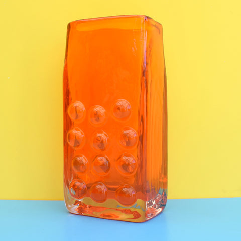 Vintage Whitefriars Mobile Phone Vase - Geoffrey Baxter - Orange