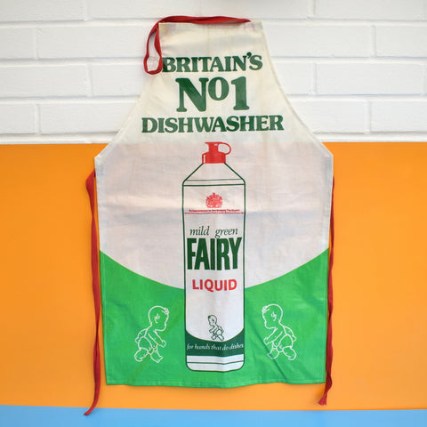 Vintage 1980s Fairy Washing Up Liquid Full Apron - PVC