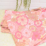 Vintage 1960s Curtains - Marks & Spencer Flower Power,  Pink