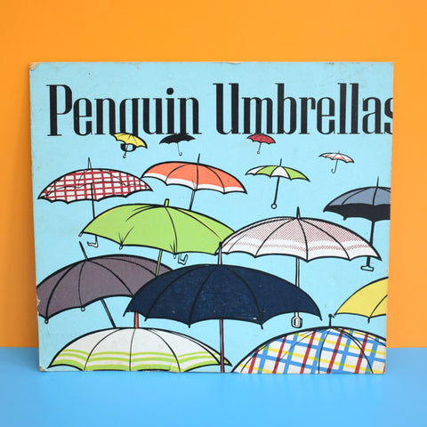 Vintage 1950s Cardboard Penguin Umbrella Advert