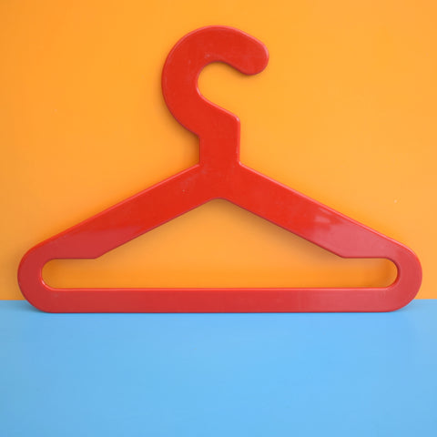 Vintage 1970s Plastic Clothes Hangers x4 - Finland - Red