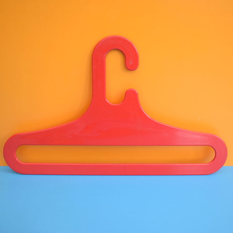 Vintage 1970s Space Age Plastic Clothes Hangers - Rainbow