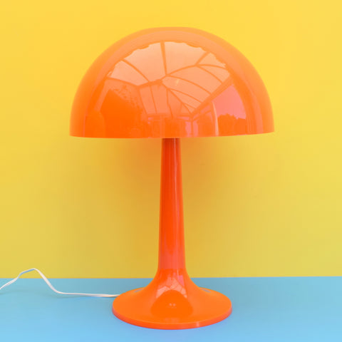 Vintage 1970s Rare Plastic Mushroom Lamp - Gilbert Softlite Inc - Orange