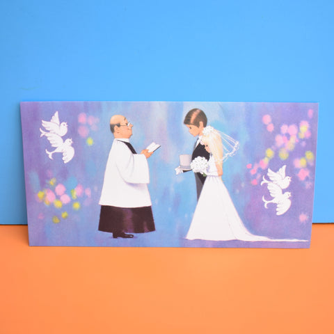 Vintage 1960s Kitsch Greeting Card by Gluck - Wedding Day