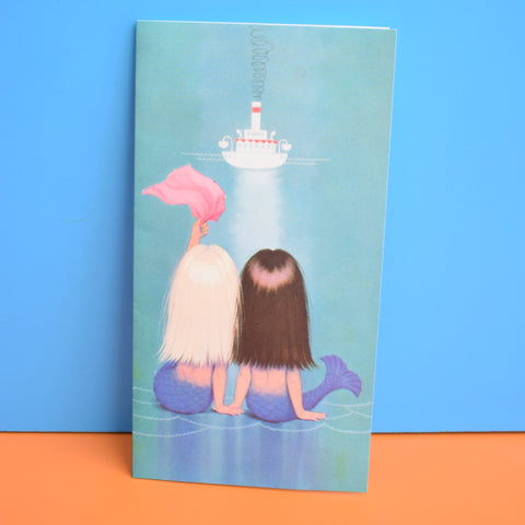 Vintage 1960s Greeting Card by Gluck - Long Haired Mermaids