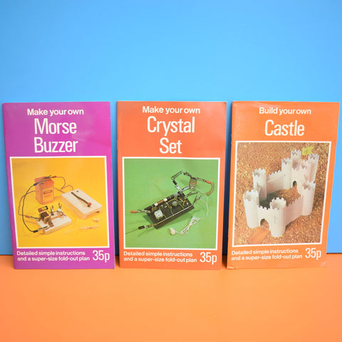 Vintage Books - Make Your Own - Morse Code, Crystal Radio , Castle - School Holidays - I'm BORED!