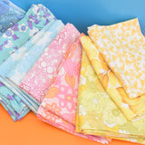 Vintage 1960s Pillow Cases - Flower Power Cotton - Various Colours
