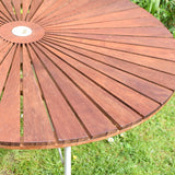 Vintage 1960s Garden SunBurst Table - Folding - Danish Teak