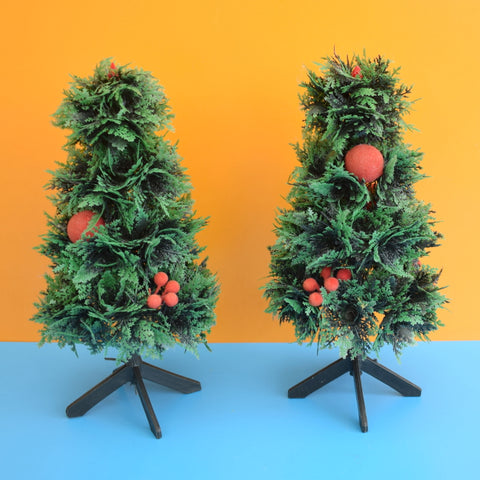Vintage 1970s Small Plastic Christmas Trees