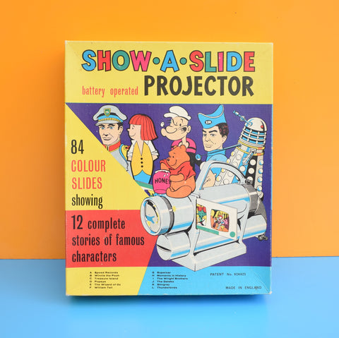 Vintage 1960s Show A Slide Projector - 84 Colour Slides