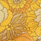 Vintage 1960s Marks & Spencer Curtains - Flower Power,  Yellow
