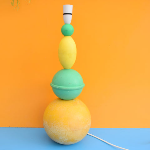 Unique Large Fishing Float Buoy Lamp - Orange, Yellow & Mint Green