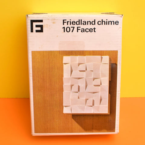 Vintage 1970s Doorbell - Friedland - Facet Design - Boxed & Unused - White