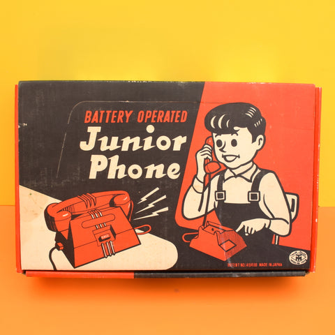Vintage 1960s Junior Toy Telephones - Boxed - Lavender & Mint