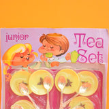 Vintage 1960s Childs Plastic Toy Tea Set - Yellow Butterfly