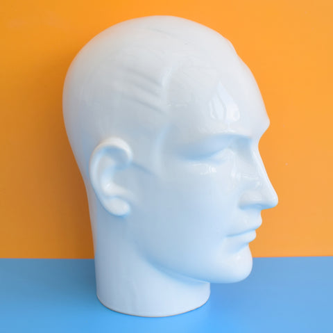 Vintage 1980s Ceramic Display Head - Shop Retail - Man